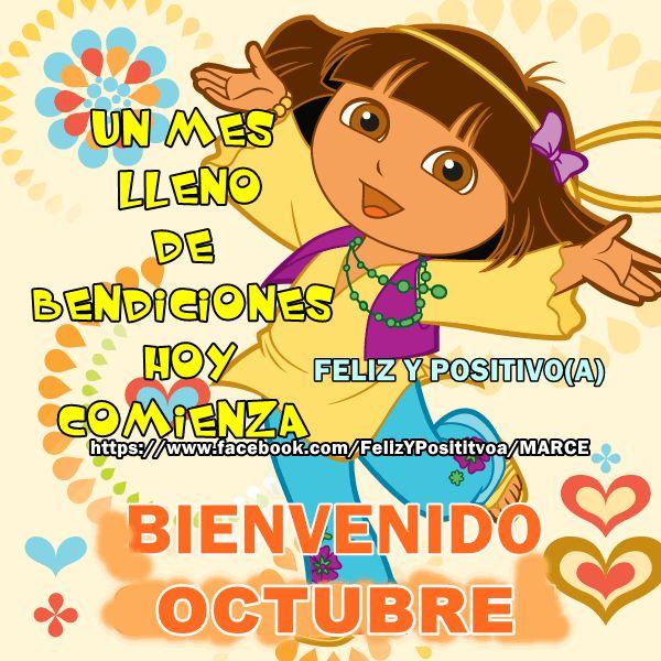 Un mes lleno de bendiciones hoy comienza. Bienvenido Octubre!