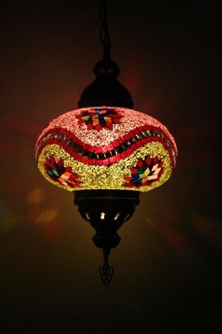 Multi Star & Wave Turkish Glass Lamp