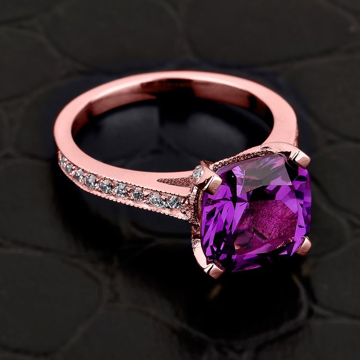 Alexandrite ring, gold Alexandrite ring, Alexandrite and diamond engagement ring, 14k rose-pink gold Alexandrite ring, June birthstone ring by CaliRoseJewelry on Etsy https://www.etsy.com/listing/231211405/alexandrite-ring-gold-alexandrite-ring