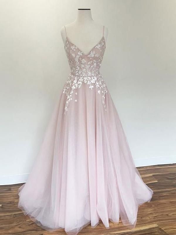 1860ec66cee Chic Pink Prom Dress Lace Cheap Long Prom Dress  VB2458 in 2019 ...