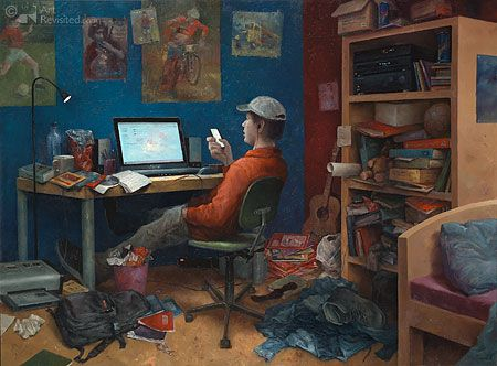 Bryan van Dokkum Blog: Marius van Dokkum: Schilder, tekenaar en