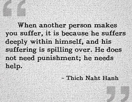 When others cause suffering...