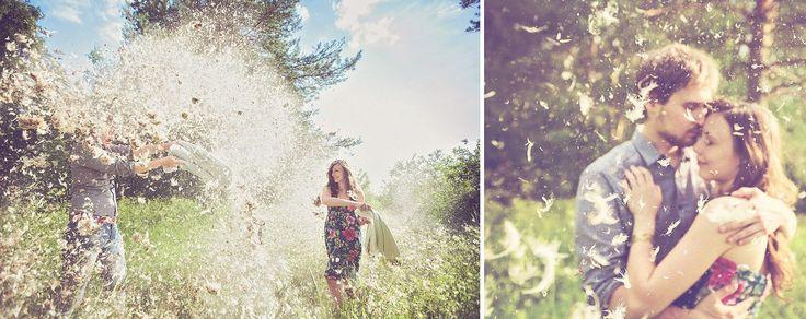 Бой подушками в подмосковном лесу:) - Фотограф Анастасия Ласти