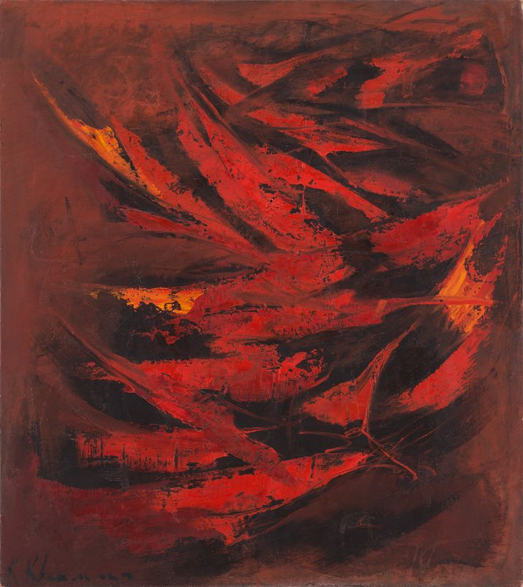 Lot No. 73, KRISHEN KHANNA, Phoenix Oil on canvas, late 1950s 36.0 x 32.0 in.