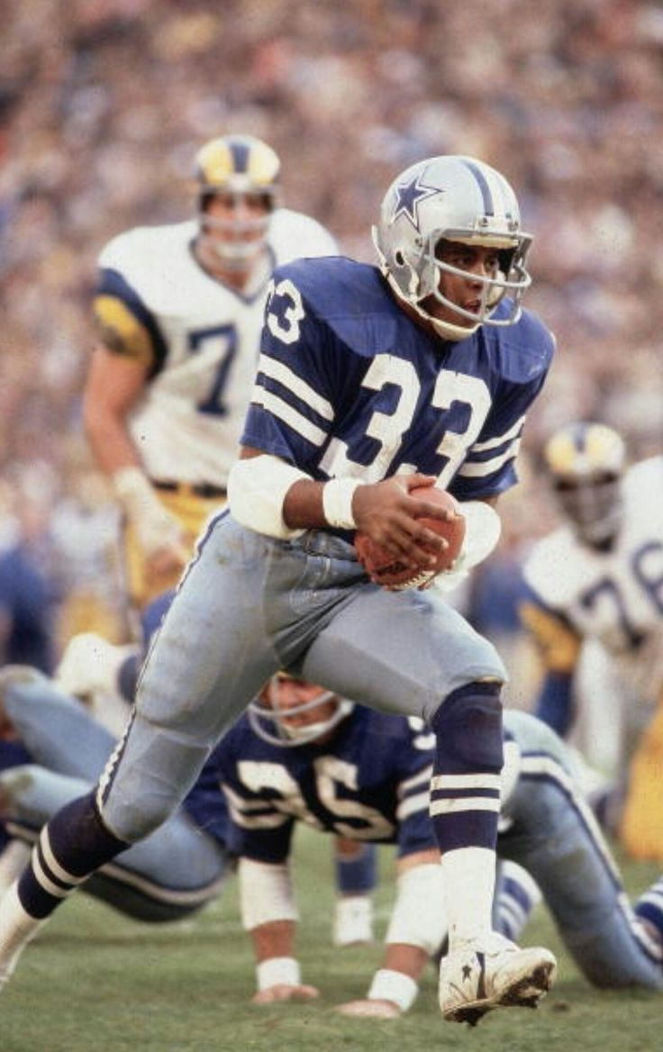 Tony Dorsett.  Those blue jerseys always looked good, but were never worn at home.