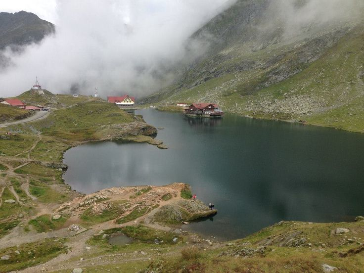 Bâlea Lac, Transfăgărășan. A glacier lake at the top of Făgăraș mountains.