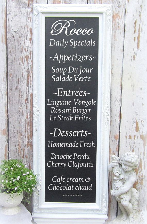 long narrow chalkboard for sale 56x32 baroque oak kitchen magnetic decorative extra large french country tuscan kitchen home decor - Decorative Chalkboards