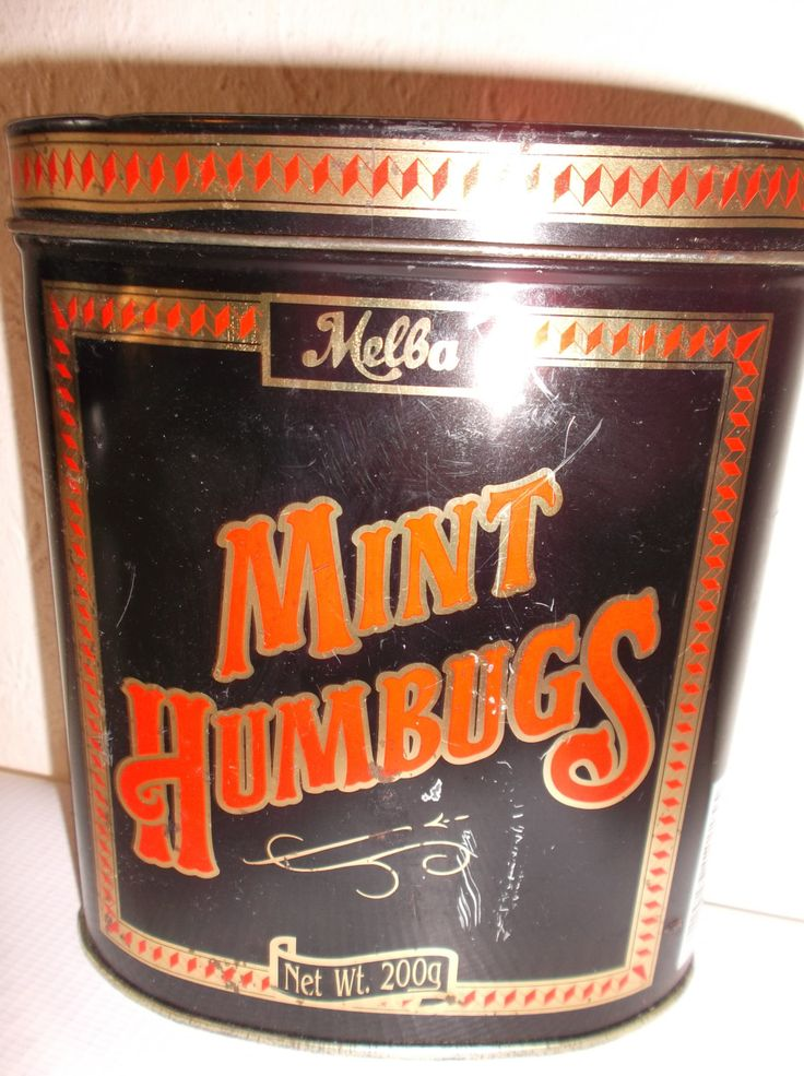 Vintage Tin English Humbugs Sweets Container Melba Mint Humbugs by Retromagination on Etsy