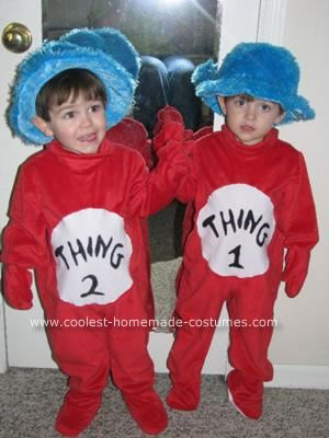 Homemade Thing 1 and Thing 2 Toddler CostumesDiy Costumes, Halloween Costumes, Halloween Fun, Toddlers Costumes, Hats Costumes, Twiddle, Dee Costumes, Halloween Ideas, Costumes Ideas