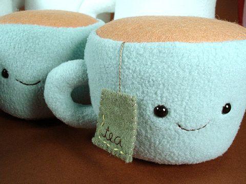 Adorable Kawaii Tea Plushie.
