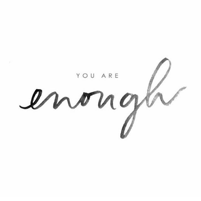 Tuesday Reminder: You are enough. . . . . . . : @overcomingshyness #youareenough #you #positivemindset #positiivinen #selfcare #selfdevelopment