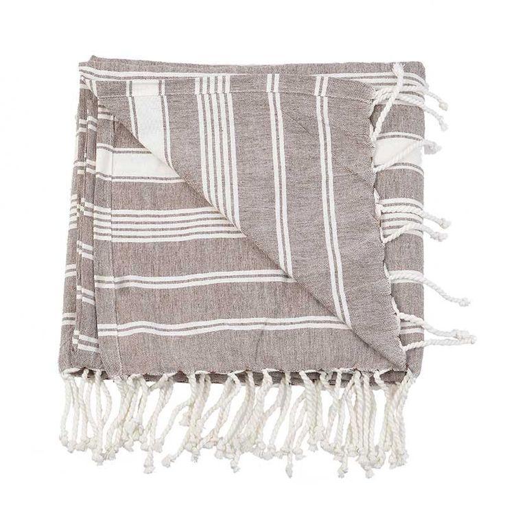 BODY TOWEL - PESTEMAL- BROWN - Towels
