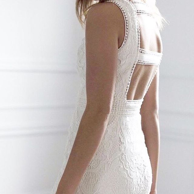 KNOWLES | Our 'Knowles' Dress is available in two lengths, short and midi! | A perfect option for a more relaxed wedding dress, a second dress, a hens day, or even for bridesmaids. | Available to purchase via our website - limited stock left! | #knowles #knowlesdress #weddingdress #lace #midi #wedding #bride #chosen #lacedress  #Regram via @chosenbyoneday