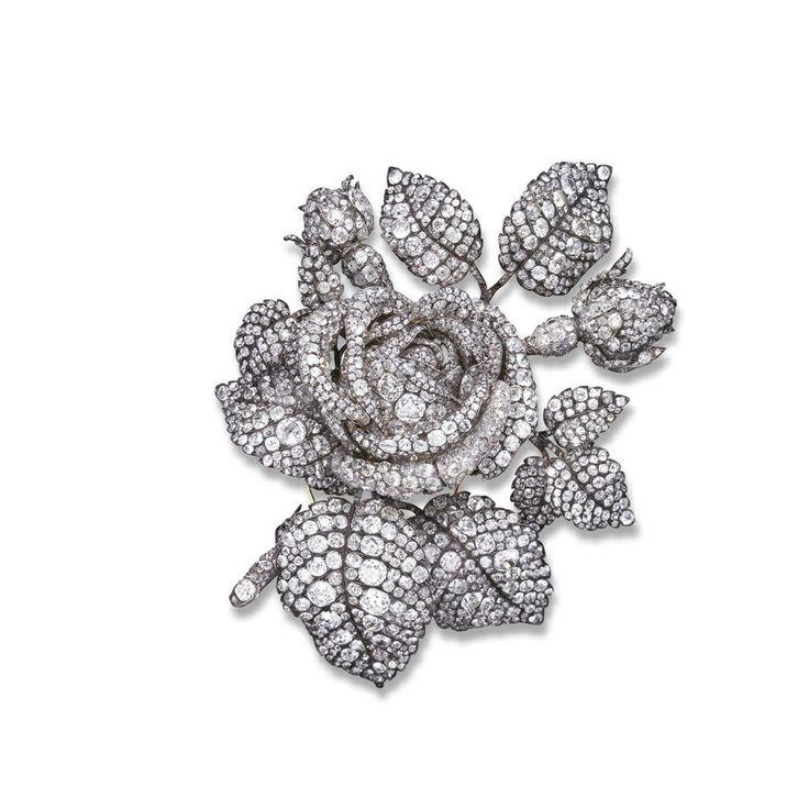 broche bouquet de roses de la Princesse Mathilde réalisée par Mellerio dits Meller
