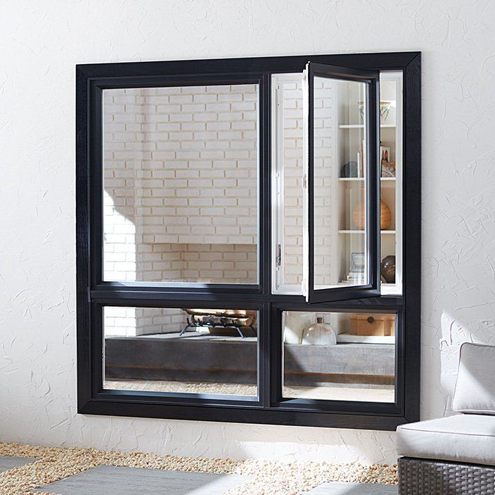 Image result for casement windows with fixed panel on the bottom