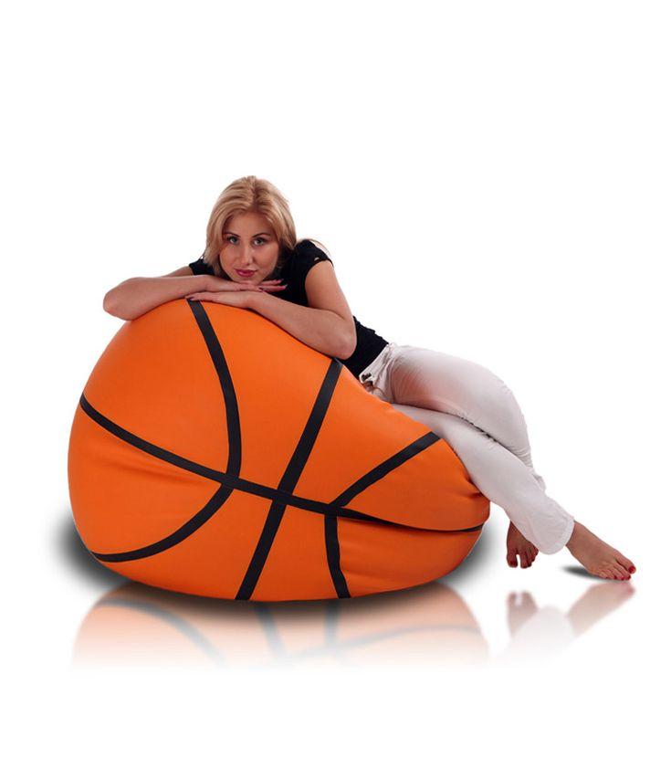 How cool a basketball beanbag chair.