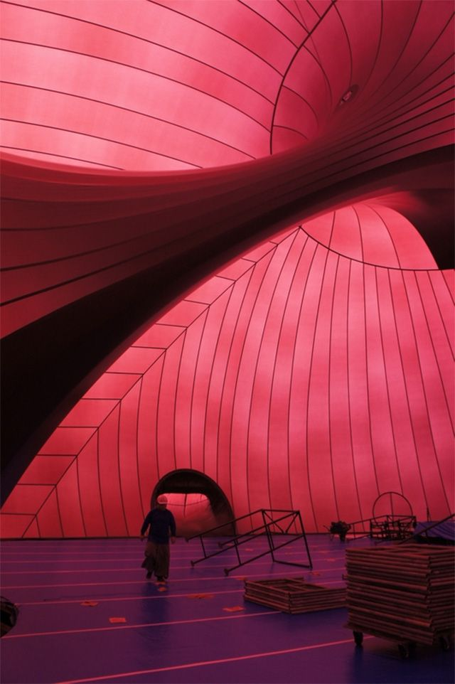 Ark Nova: Worlds First Inflatable Concert Hall Will Tour Recovering Areas in Japan music Japan architecture