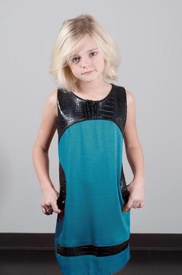 Mixed Media Aqua Blue Dress by Shelli Segal - Laundry