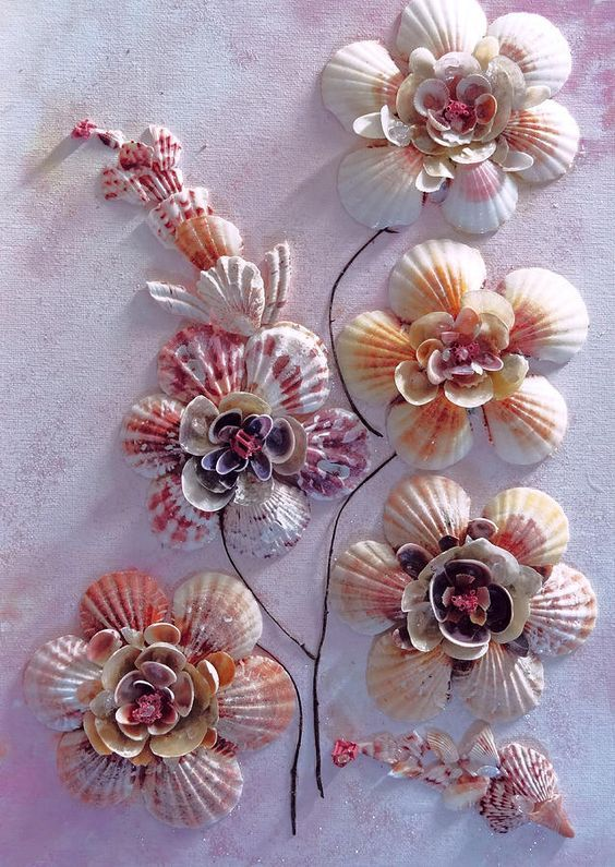 water effect glue crafts with shells - Google Search