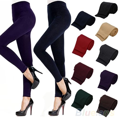 Fitness High Street Lady Womens Winter Warm Skinny Slim Stretch Thick Footless Leggings 02Y9 33FP