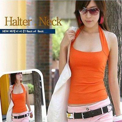 10-Colors-Women-Tops-Cotton-Halter-Neck-Vests-Tank-Tops-Cami-Strapless-T-shirts