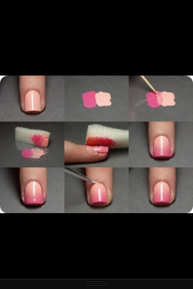 Cool nail design that makes your nail look like its changing colour