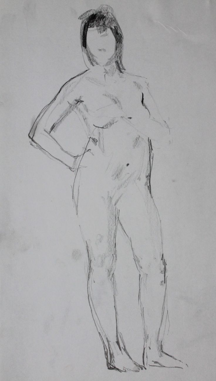 Титенков Владислав. Набросок обнаженной фигуры. А4.2013 Titenkov Vladislav. Sketch of a nude figure. A4.2013