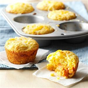 Muffin Tin Tamale Cakes Recipe- Recipes  We needed snack inspiration beyond peanut butter and jelly. These muffin tamales have all of the flavor without the fuss. Pair with skewered fruit. —Suzanne Clark, Phoenix, AZ