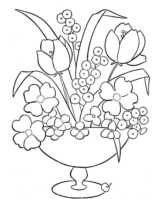 Free Coloring Pages Of Flowers In A Vase 73 Best Flower Images On