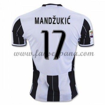 Camisetas De Futbol Juventus Mandzukic 17 Primera Equipación 2016-17