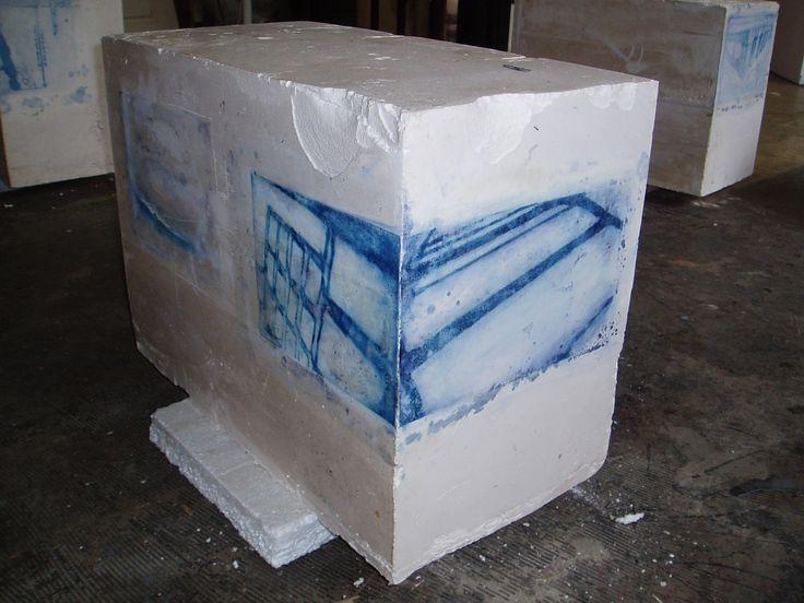 cyanotype on plaster