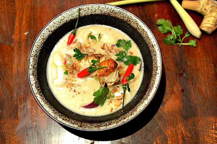 Tom Kha Kai Soupe poulet lait de coco citronnelle galanga