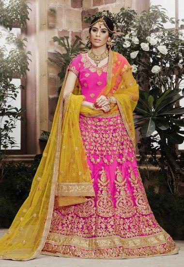 fa427ca8ddc  Net  Beautiful  Pink  Lehenga