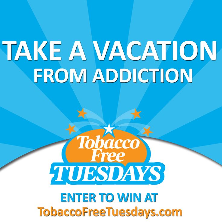 Every first Tuesday of the month is a Tobacco Free Tuesday. Enter to win and become smoke-free at http://tobaccofreetuesdays.com