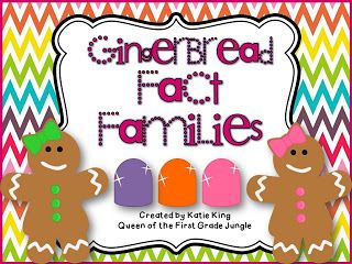 FREE Gingerbread Fact Families: 1st-2nd