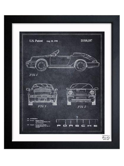 Porsche 911, 1990 Framed Art Print by Oliver Gal at Gilt