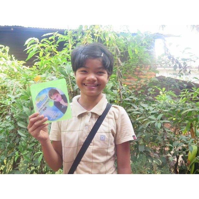 Happily received a Heaven DVD set handed by U Kyaw Min Niang on Palm Sunday, 2016 in Pathein. #KCNY Ministry #vovcyan