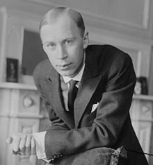 "Sergei Prokofiev in New York, 1918-His works include such widely heard works as the March from The Love for Three Oranges, the suite Lieutenant Kijé, the ballet Romeo and Juliet – from which ""Dance of the Knights"" is taken – and Peter and the Wolf. Of the established forms and genres in which he worked, he created – excluding juvenilia – seven completed operas, seven symphonies, eight ballets, five piano concertos, two violin concertos, a cello concerto, and nine completed piano sonatas."