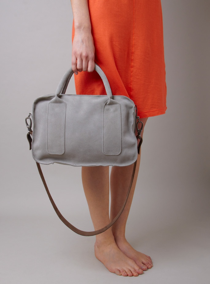 Tiny Tom Suede Bag - love the neutral color.