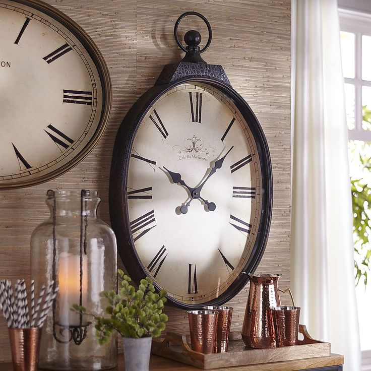 Antiqued Wall Clock - Noir   Pier 1 Imports