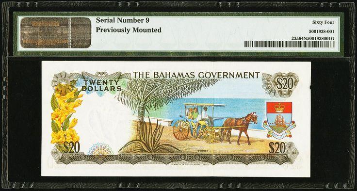 Bahamas Government $20 L. 1965 - 2