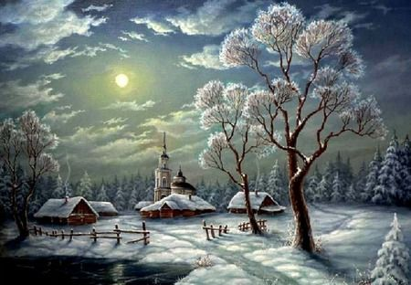 Frosty moonlight