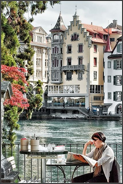 Coffee break in Lucerne, Switzerland