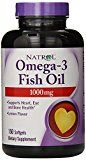 Natrol Omega-3 1000mg Fish Oil Softgels, 150-Count(Pack of 3)