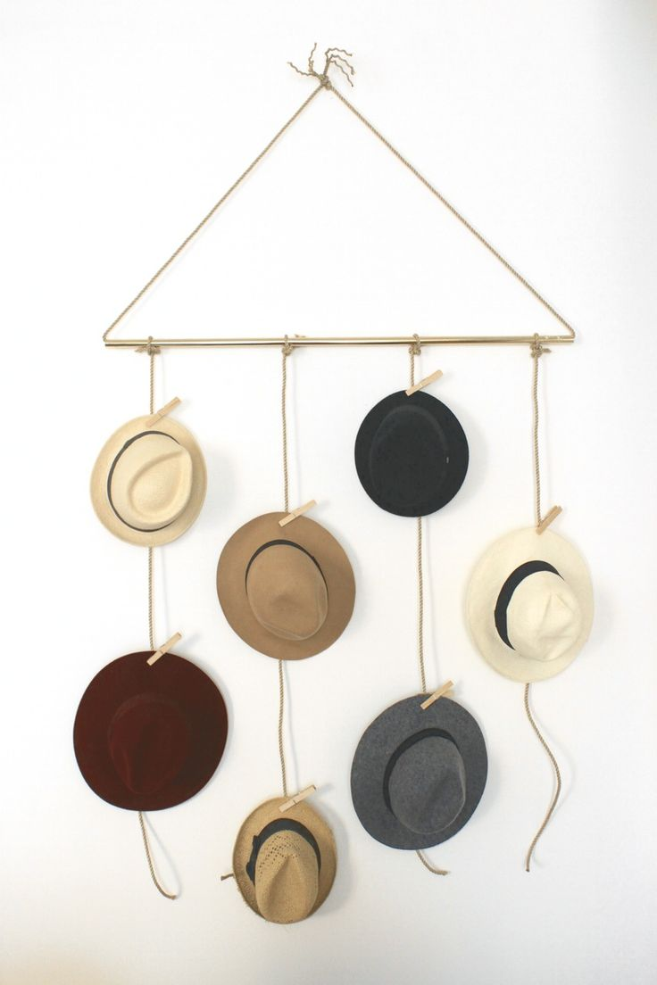 hat rack as decor                                                                                                                                                      More