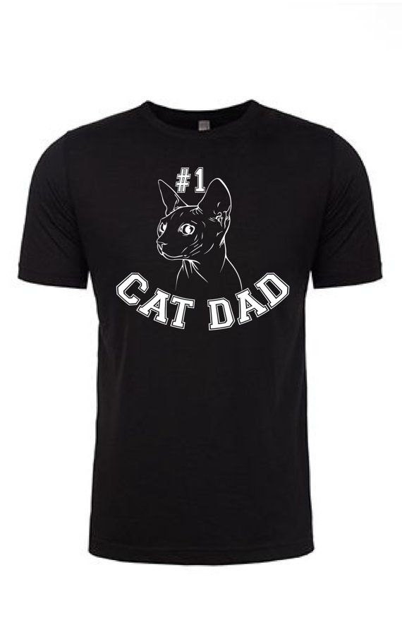 Cat Dad Shirt - Men's Cat Shirt No 1 Cat Dad Fathers Day Gift Cat Breed Shirt Gift for Him Pet Dad Gifts Cat Lovers Cat Daddy by SimplySphynx
