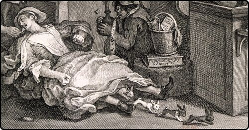 Mary Toft, a peasant woman from the town of Godalming, England, claimed she was giving birth to rabbits. She even managed to perform this feat in the presence of the King's personal surgeon, who traveled to Godalming to witness the phenomenon. She was transported to London, where she continued to