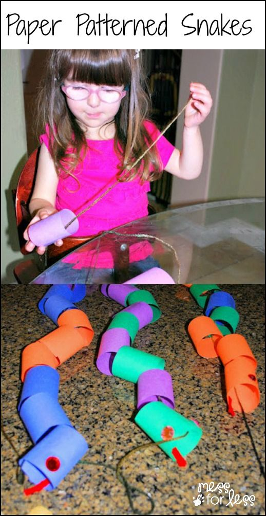 Paper Patterned Snakes - A fun way for kids to learn about patterns and have a cool snake toy at the same time!