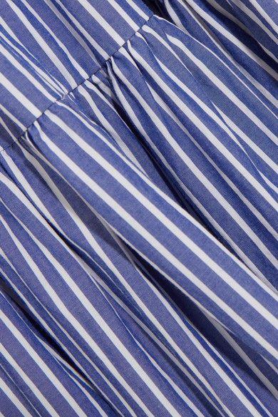 J.Crew - Garratt Tiered Striped Cotton-poplin Maxi Dress - Blue