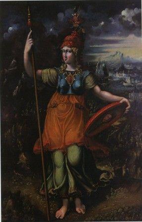 """Battista Dossi (? 1496 ca - Ferrara 1548), """"Minerva"""", 1545 ca. olio su tela, cm 130 x 84 #PinacotecaCivica #AscoliPiceno #Marche #Italy"""